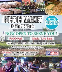 Gustos Market banner by Intelli Parking